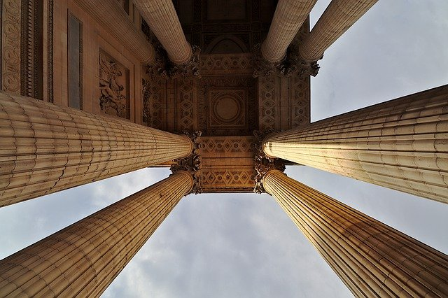 Columns at the Pantheon