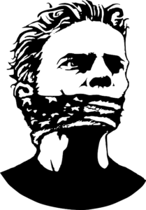 Man with gag around his mouth